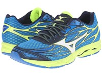 Mizuno Wave Catalyst Directoire Blue White Safety Yellow Men's Running Shoes