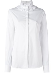 Capucci Ruffle Collar Shirt White
