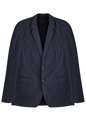 Nn.07 Soho Navy Stretch Cotton Blazer