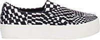 Opening Ceremony Checkered Slip On Platform Sneakers Colorless
