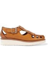 Grenson Ethel Leather Loafers Tan