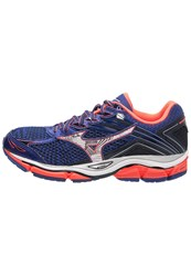 Mizuno Wave Enigma 6 Neutral Running Shoes Dazzling Blue Silver Fiery Coral