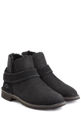 Ugg Australia Fold Cuff Ankle Boots Black