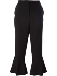 Salvatore Ferragamo Flared Cropped Trousers Black