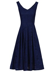 Jolie Moi Lace Bonded Sweetheart Prom Dress Navy