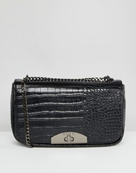 Marc B Moc Croc Cross Body Bag Black