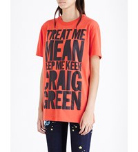 House Of Holland Craig Green Cotton Jersey T Shirt Red