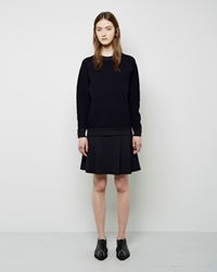 Proenza Schouler Pleated Wool Skirt Black