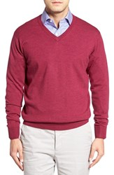 Peter Millar Men's Merino Wool V Neck Sweater