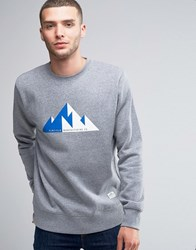 Penfield Geo Crew Sweatshirt Mountain Print Grey