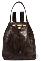 The Row Python Backpack Dark Brown