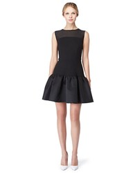 Erin Fetherston Contrast Drop Waist Dress Black