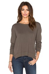 Wilt French Terry Slouchy Slit Sweatshirt Green