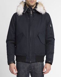 Sandro Navy Canada Hooded Jacket Blue