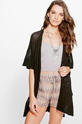 Darcey Pointelle Stitch Cape Cardigan