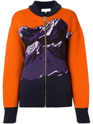 Emilio Pucci Mountainscape Printed Cardigan Yellow Orange