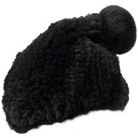 Glamourpuss Nyc Super Slouch Hat Jet Black