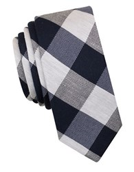Original Penguin Paradigm Check Tie Navy