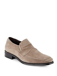 Bruno Magli Primo Suede Penny Loafers Sand