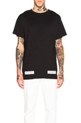 Off White Blue Collar Tee In Black