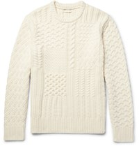 Club Monaco Textured Wool And Cashmere Blend Sweater Cream