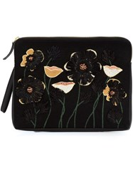 Lizzie Fortunato Jewels 'Raffia Garden' Clutch Bag Black