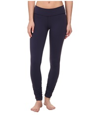 Beyond Yoga Gathered Long Leggings True Navy Women's Casual Pants