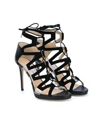 Jimmy Choo Dani 100 Suede And Perspex Heeled Sandals Black Transparent White