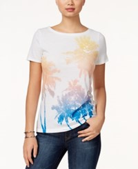 Tommy Hilfiger Jill Palm Tree Graphic T Shirt Bright White