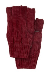 Rogue Knit Fingerless Glove With Suede Pink