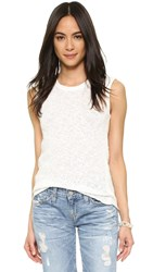 James Perse Web Jersey Muscle Top Cricket White