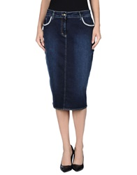 Ean 13 Denim Skirts Blue