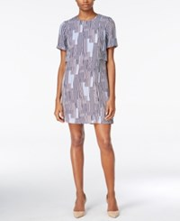 Armani Exchange Printed Shift Dress Solid Dark