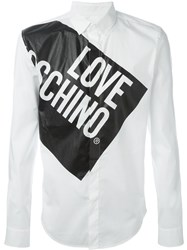 Love Moschino Logo Print Shirt White
