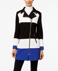 Inc International Concepts Colorblocked Moto Jacket Only At Macy's Goddess Blue