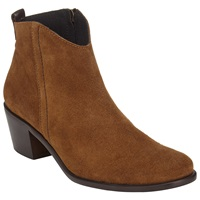 John Lewis Poppy Suede Ankle Boots Brown