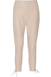 Isabel Marant Curtis Lace Up Leather Tapered Pants
