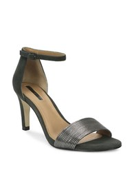 Tahari Novel Ankle Strap Sandals Gunmetal