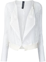 Giorgio Brato Draped Jacket White