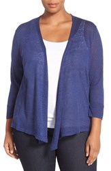 Nic Zoe Plus Size Women's '4 Way' Three Quarter Sleeve Convertible Cardigan Abyss