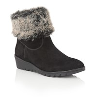Lotus Namika Suede Ankle Boots Black