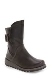 Fly London Women's 'Sien' Moto Boot Diesel Rug Leather