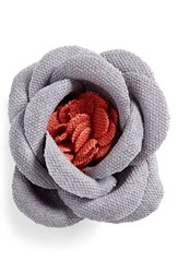 Men's Hook Albert Large Lapel Flower Grey