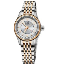 Oris 59476804361Mb Aviation Rose Gold Plated Stainless Steel Watch Sliver