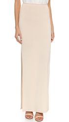 Air By Alice Olivia Double Slit Maxi Skirt Nude