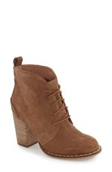 Seychelles Women's 'Tower' Lace Up Bootie Tan Suede