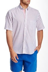 Tailorbyrd Graph Plaid Short Sleeve Shirt Red