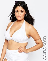 Asos Curve Mix And Match Sexy Halter Top With Support White