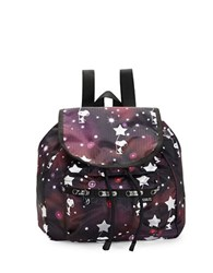 Le Sport Sac Edie Small Backpack Snoopy Galaxy
