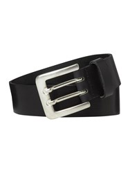 Howick Double Prong Leather Belt Black